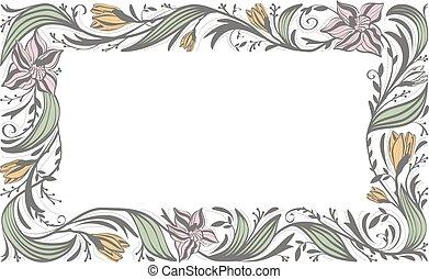 Floral Flower Decorative Frame