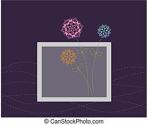 Floral greeting card design