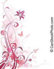 Floral Grunge Pink