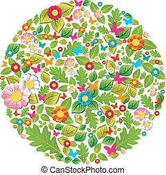 Floral spring and summer circle