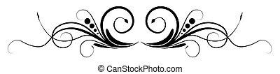Abstract Swirl Flourish Vector Design