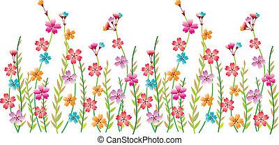 Flower fancy border