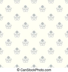 Flower house pattern vector seamless