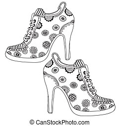 Flower patterned Shoes