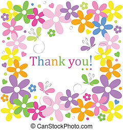 flowery thank you border