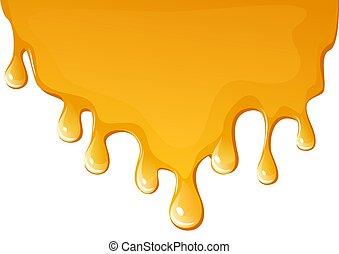illustration of flowing honey , background