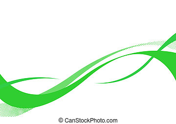 Flowing green curves layout with plenty of copy space.