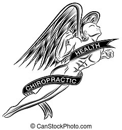 An image of a superhero styled chiropractic angel.