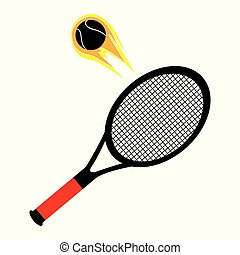 Flying tennis ball logo