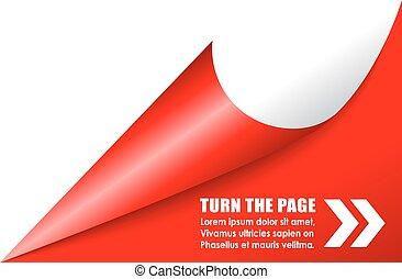 Folded page corner