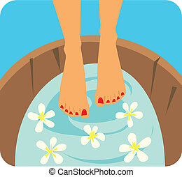 Foot Care Graphic Illustration