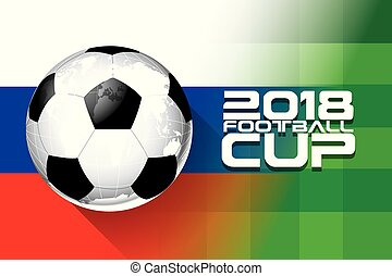 Football 2018 world championship cup background soccer vector.