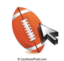 Football ball with cursor arrow