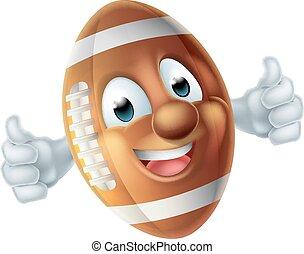 Football Cartoon Character Ball