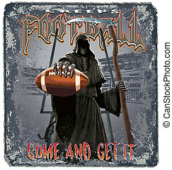 halloween football illustration for shirt printed and poster
