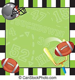 Football Party Invitation card