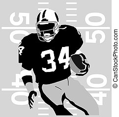 american football sport silhouette vector for T-shirt printed and poster