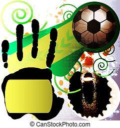Football vector background