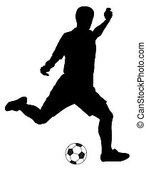 Abstract vector illustration of footbal player silhouette