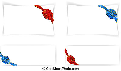 four templates with bow