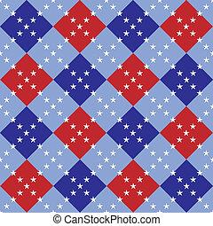 Fourth of July Argyle