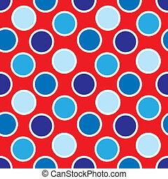 Fourth of July Polka Dots