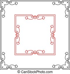 Frame Border Design Vector Illustration
