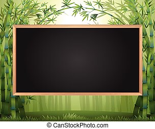 Frame design with bamboo forest in background