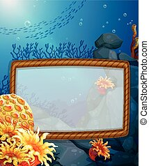 Frame design with underwater background