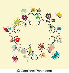 Vector floral elegant frame