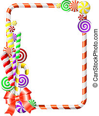 Sweet frame with colorful candies. Vector illustration