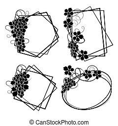 Frame with vine