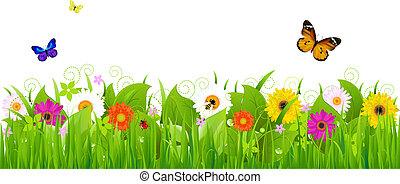 Fresh Nature Landscape, Vector Illustration