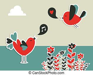 Fresh social media birds communication