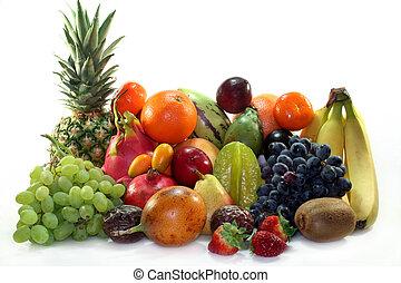 Fruit mix of exotic and indigenous fruit