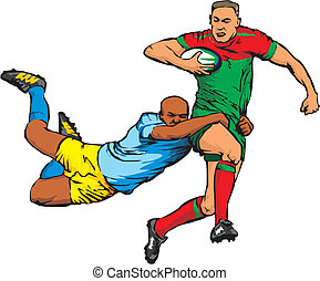 full contact team sport, rugby union