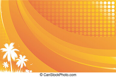 Funky tropical background