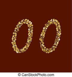 00 golden glitter number.