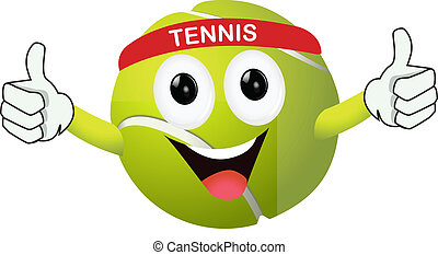 funny tennis ball