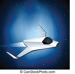Futuristic space shuttle. EPS10. Gradients and Transparency used.