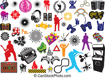 Vector game elements.