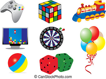 Games & toys icons. Vector illustration for you design
