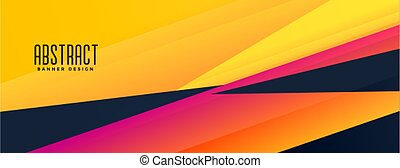 geometric abstract colors shapes banner design