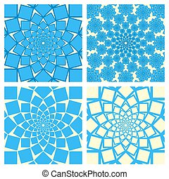 Geometric Background Set. Oriental Style. Vector