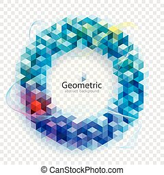 Geometric Circular Colors Abstract Background.