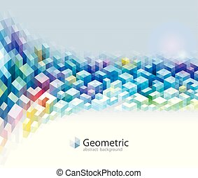 Geometric Colors Pattern Abstract Background.