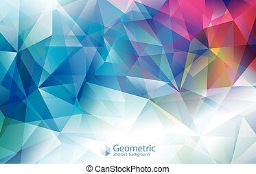 Geometric Modern Colors Abstract Background