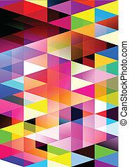 Geometric Nightmares - Vector background Design