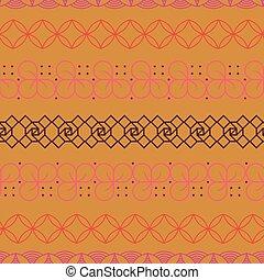 Geometric seamless pattern in zen tangle style