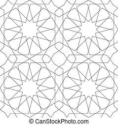 Geometric Seamless Pattern white